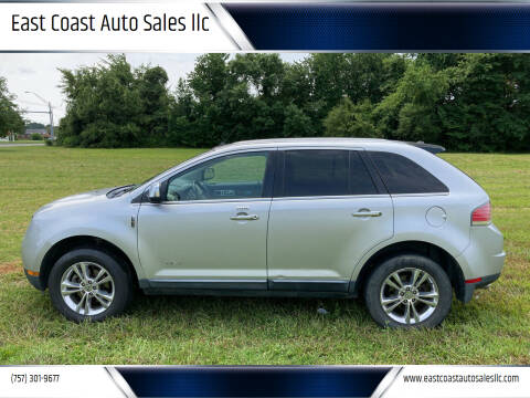 2010 Lincoln MKX for sale at East Coast Auto Sales llc in Virginia Beach VA