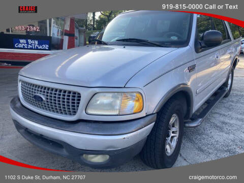 2000 Ford Expedition for sale at CRAIGE MOTOR CO in Durham NC