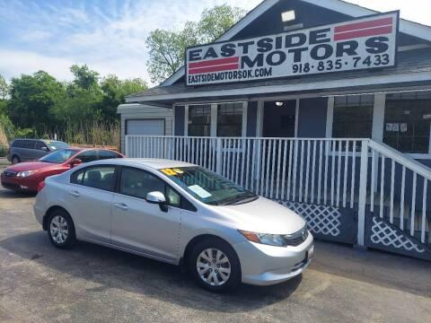 2012 Honda Civic for sale at EASTSIDE MOTORS in Tulsa OK