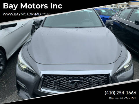 2018 Infiniti Q50 for sale at Bay Motors Inc in Baltimore MD