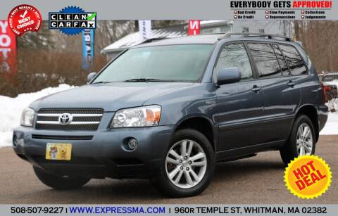2006 Toyota Highlander Hybrid for sale at Auto Sales Express in Whitman MA