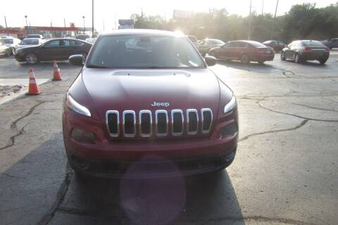 2016 Jeep Cherokee for sale at Burgess Motors Inc in Michigan City IN