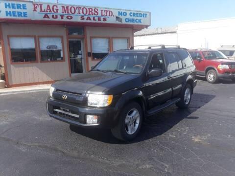 2001 Infiniti QX4 for sale at Flag Motors in Columbus OH