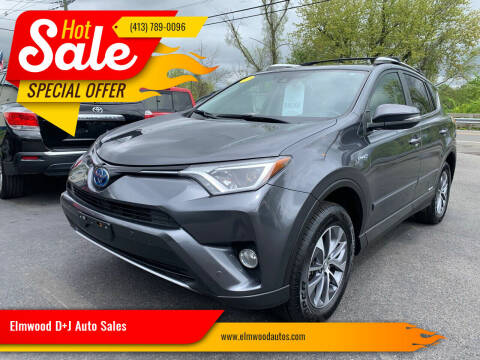 2016 Toyota RAV4 Hybrid for sale at Elmwood D+J Auto Sales in Agawam MA