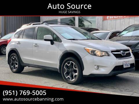 2013 Subaru XV Crosstrek for sale at Auto Source in Banning CA