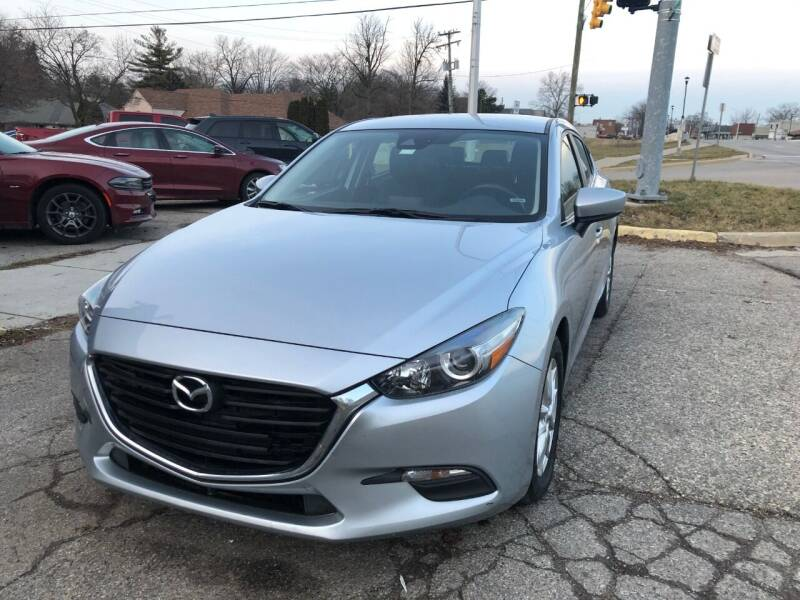2018 Mazda MAZDA3 for sale at One Price Auto in Mount Clemens MI