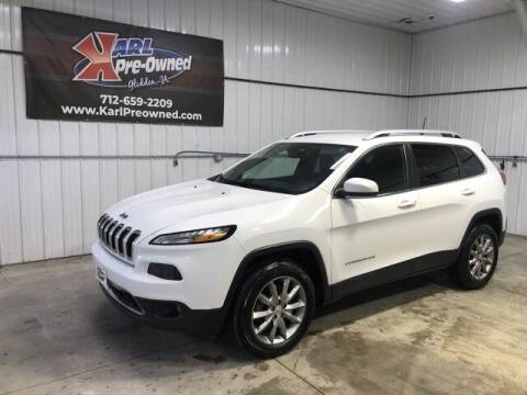 2018 Jeep Cherokee for sale at Karl Pre-Owned in Glidden IA