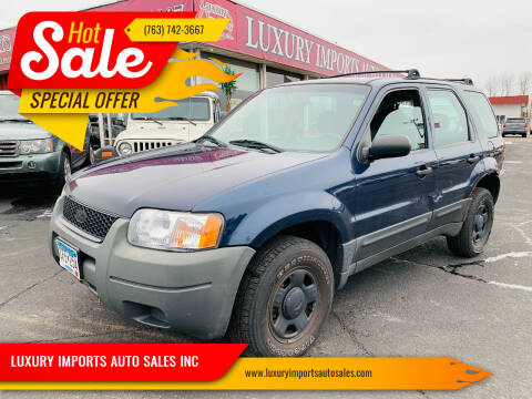 2004 Ford Escape for sale at LUXURY IMPORTS AUTO SALES INC in North Branch MN