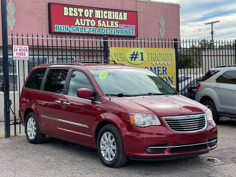 2015 Chrysler Town and Country for sale at Best of Michigan Auto Sales in Detroit MI