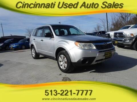 2010 Subaru Forester for sale at Cincinnati Used Auto Sales in Cincinnati OH