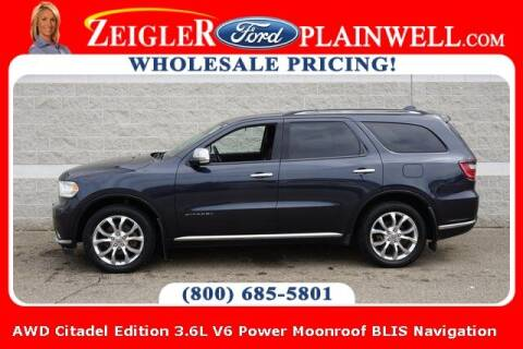 2016 Dodge Durango for sale at Zeigler Ford of Plainwell- Jeff Bishop in Plainwell MI