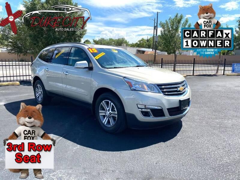 2015 Chevrolet Traverse for sale at DUKE CITY AUTO SALES in Albuquerque NM