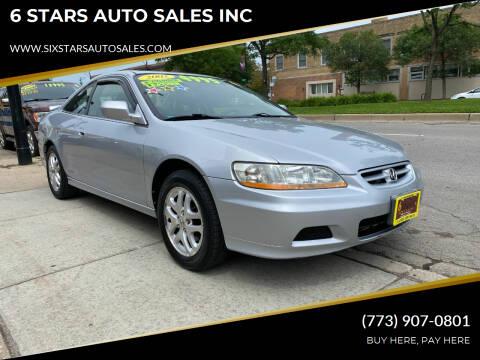2002 Honda Accord for sale at 6 STARS AUTO SALES INC in Chicago IL