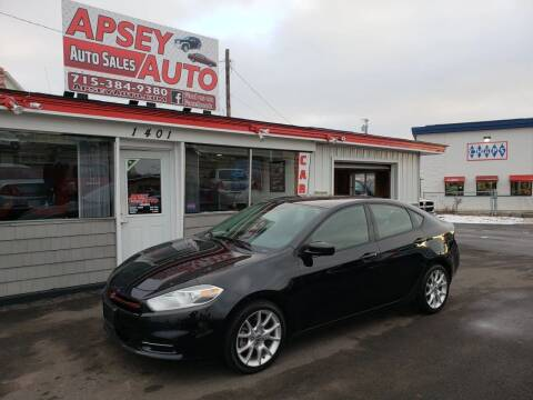 2013 Dodge Dart for sale at Apsey Auto 2 in Marshfield WI