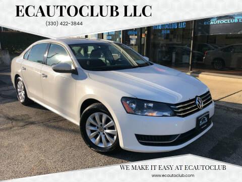 2012 Volkswagen Passat for sale at ECAUTOCLUB LLC in Kent OH