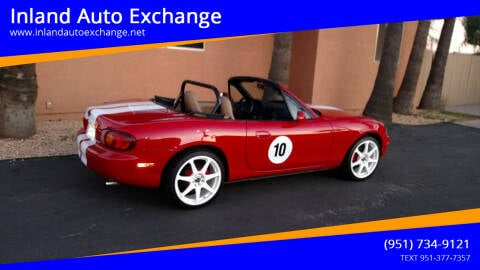 1999 Mazda MX-5 Miata for sale at Inland Auto Exchange in Norco CA