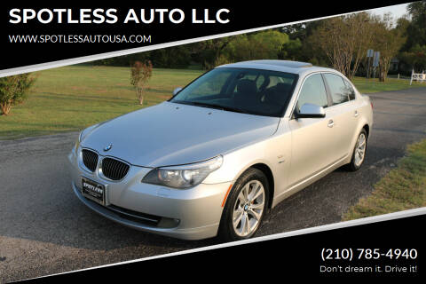 2010 BMW 5 Series for sale at SPOTLESS AUTO LLC in San Antonio TX