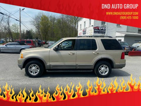 2002 Ford Explorer for sale at DND AUTO GROUP in Belvidere NJ