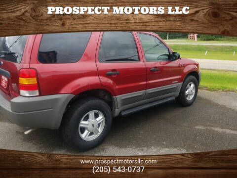 2001 Ford Escape for sale at Prospect Motors LLC in Adamsville AL