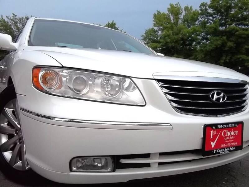 2009 Hyundai Azera for sale at 1st Choice Auto Sales in Fairfax VA