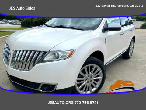 2011 Lincoln MKX for sale at JES Auto Sales LLC in Fairburn GA