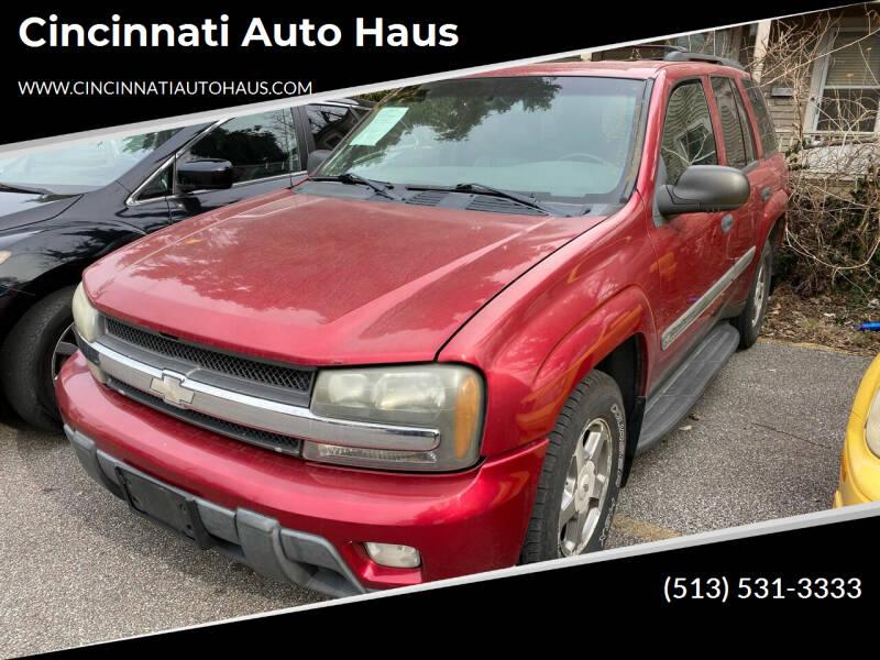 2002 Chevrolet TrailBlazer for sale at Cincinnati Auto Haus in Cincinnati OH