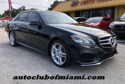 2014 Mercedes-Benz E-Class for sale at AUTO CLUB OF MIAMI, INC in Miami FL