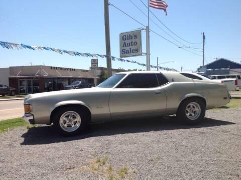 1971 Mercury Cougar for sale at GIB'S AUTO SALES in Tahlequah OK