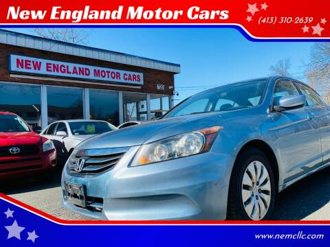 2011 Honda Accord for sale at New England Motor Cars in Springfield MA