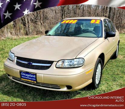 2002 Chevrolet Malibu for sale at Chicagoland Internet Auto - 410 N Vine St New Lenox IL, 60451 in New Lenox IL