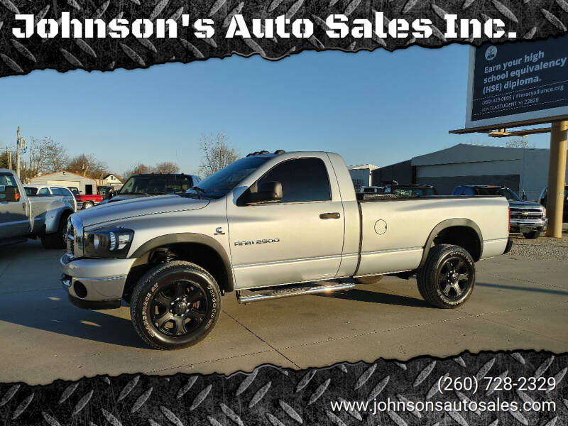 2006 Dodge Ram Pickup 2500 for sale at Johnson's Auto Sales Inc. in Decatur IN