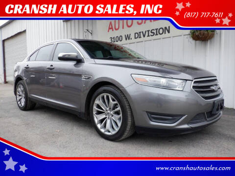 2014 Ford Taurus for sale at CRANSH AUTO SALES, INC in Arlington TX
