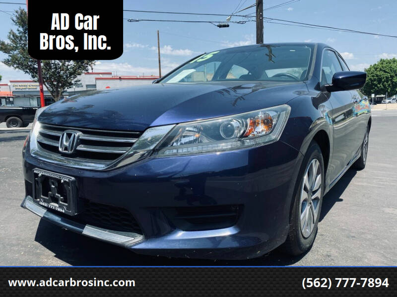 2015 Honda Accord for sale at AD Car Bros, Inc. in Whittier CA