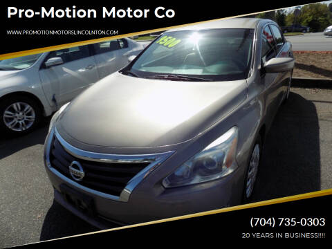 2014 Nissan Altima for sale at Pro-Motion Motor Co in Lincolnton NC