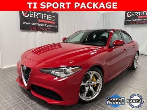 2018 Alfa Romeo Giulia for sale at CERTIFIED AUTOPLEX INC in Dallas TX