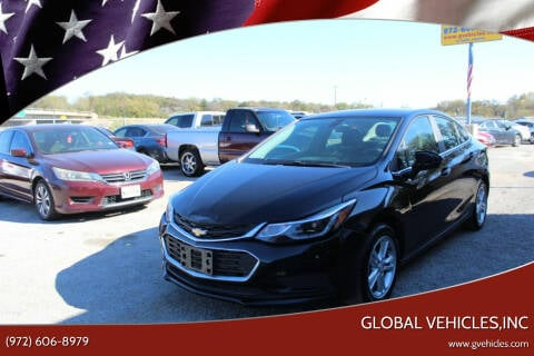 2016 Chevrolet Cruze for sale at Global Vehicles,Inc in Irving TX