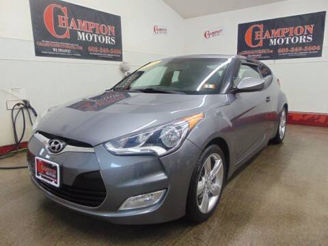 2014 Hyundai Veloster for sale at Champion Motors in Amherst NH