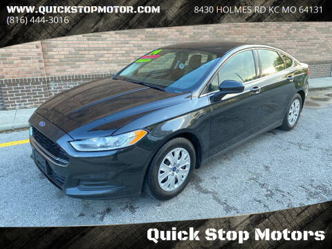 2014 Ford Fusion for sale at Quick Stop Motors in Kansas City MO