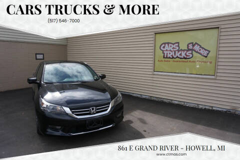 2015 Honda Accord for sale at Cars Trucks & More in Howell MI