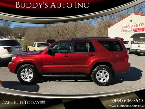 2006 Toyota 4Runner for sale at Buddy's Auto Inc in Pendleton SC