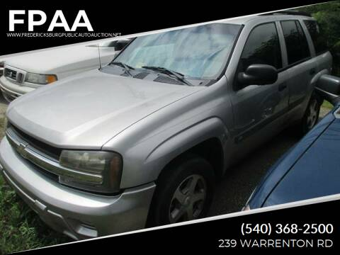 2004 Chevrolet TrailBlazer for sale at FPAA in Fredericksburg VA