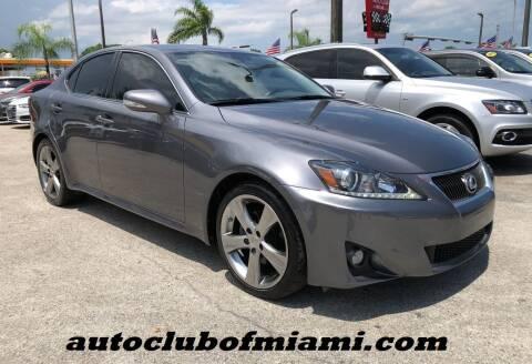 2012 Lexus IS 250 for sale at AUTO CLUB OF MIAMI in Miami FL