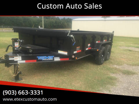 2021 Top Hat 7x14 Dump Trailer for sale at Custom Auto Sales - TRAILERS in Longview TX