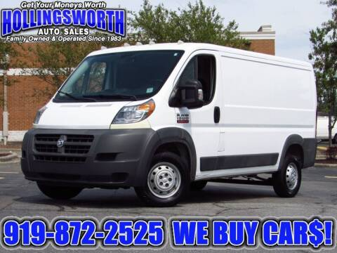 2017 RAM ProMaster Cargo for sale at Hollingsworth Auto Sales in Raleigh NC