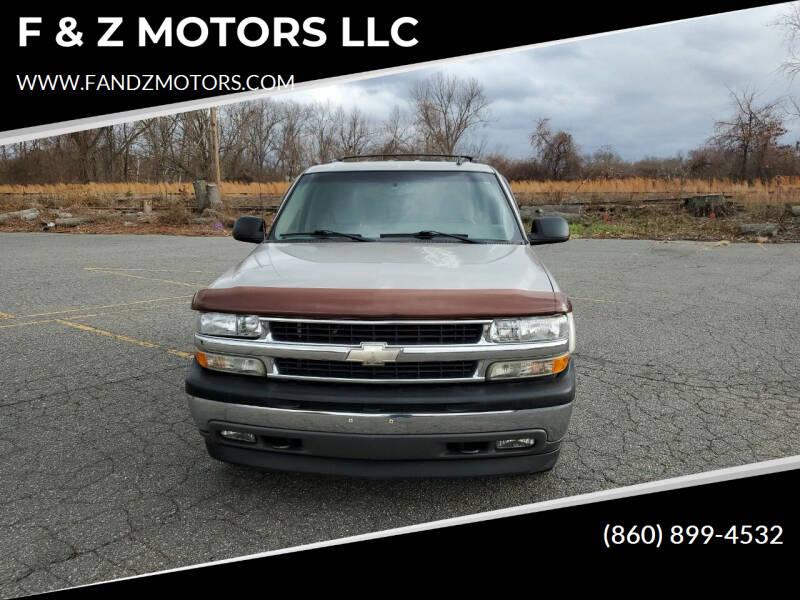 2006 Chevrolet Tahoe for sale at F & Z MOTORS LLC in Waterbury CT