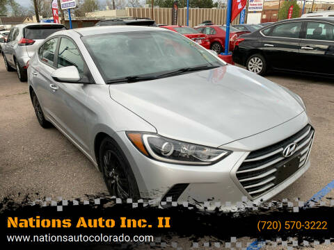 2018 Hyundai Elantra for sale at Nations Auto Inc. II in Denver CO