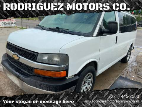 2013 Chevrolet Express Passenger for sale at RODRIGUEZ MOTORS CO. in Houston TX