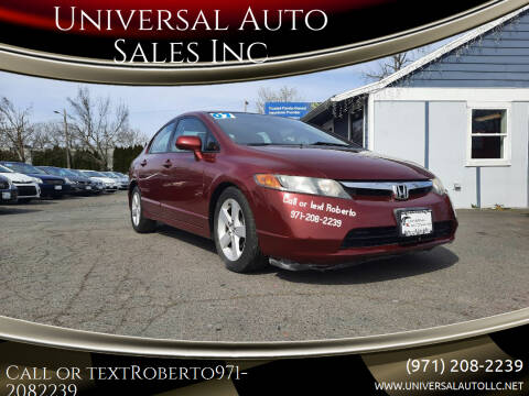 2007 Honda Civic for sale at Universal Auto Sales Inc in Salem OR