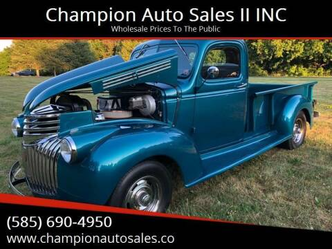 1941 Chevrolet AK / AL Series Pickup for sale at Champion Auto Sales II INC in Rochester NY