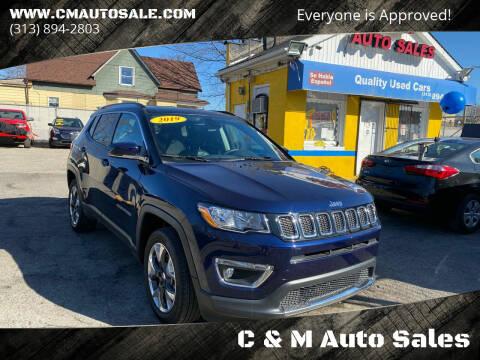 2019 Jeep Compass for sale at C & M Auto Sales in Detroit MI